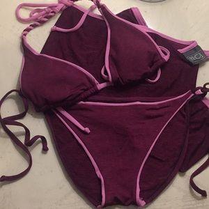 BECCA Swim - Becca Swimsuit and Sarong (S/M)